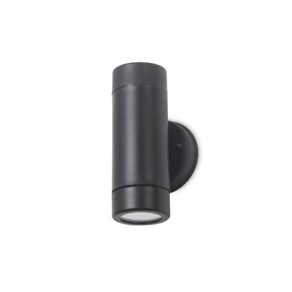 Aplique exterior Jumbo Forlight - negro 2 luces LED