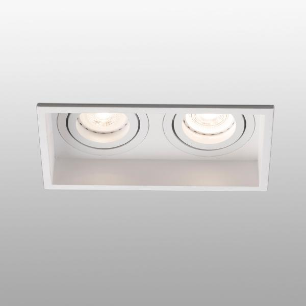 Empotrable Hyde Faro orientable Blanco 2 luces 171x89mm