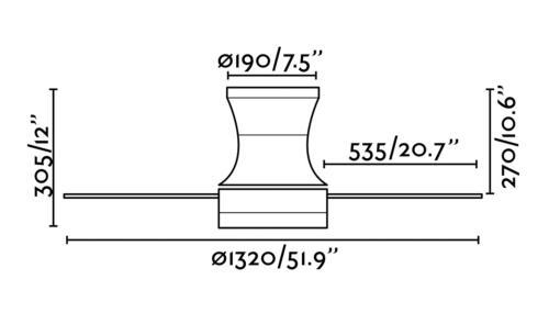 medidas de ventilador Tonsay Faro