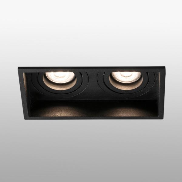 Empotrable Hyde Faro orientable Negro 2 luces 171x89mm